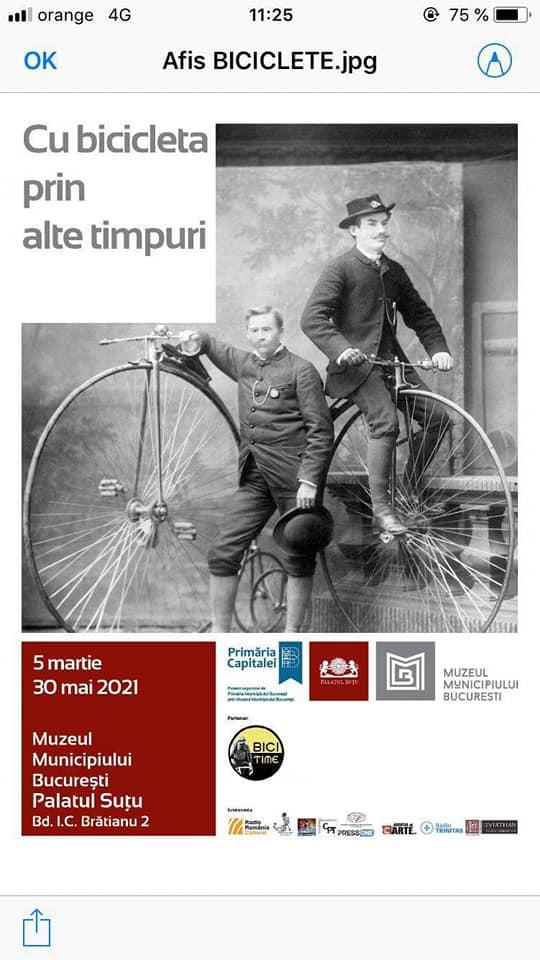 """""""Cu bicicleta prin alte timpuri"""" la Palatul Sutu"""